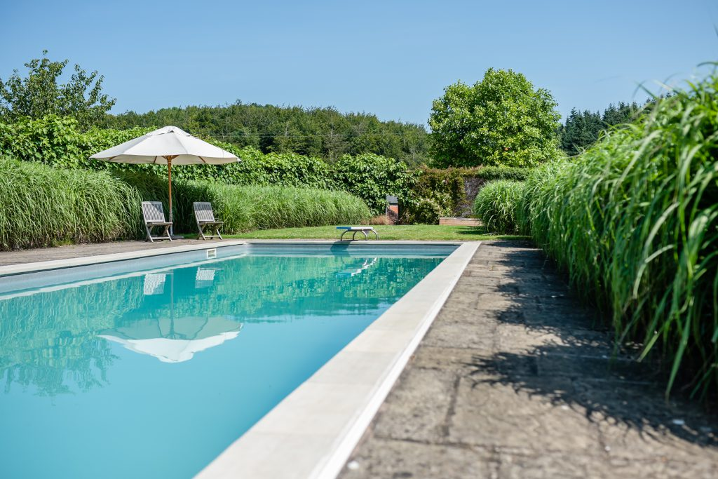Swimming pool at Grendon Court Barn