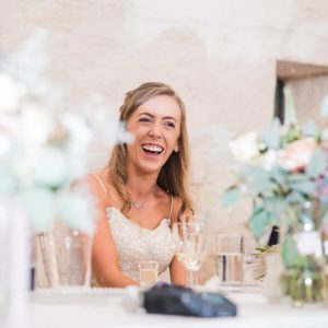 Bride at Grendon Court Barn in Herefordshire