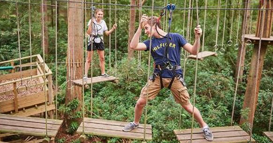 Go Ape near Grendon Court Wedding Barn