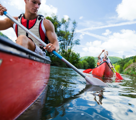 Canoeing in Herefordshire