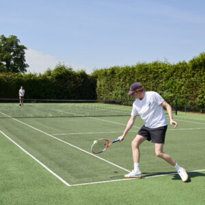 Private tennis court at Grendon Court
