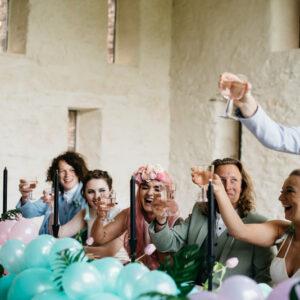Wedding reception at Grendon Court Barn