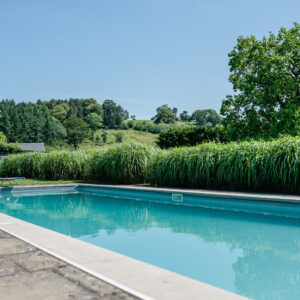 Private swimming pool at Grendon Court in Herefordshire