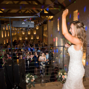 Wedding reception at Grendon Court Barn